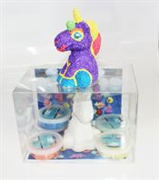 Take Out Box with Unicorn Party Animal and Foam Clay