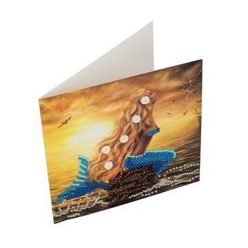 Mermaid Dreams Crystal Art Card Kit card