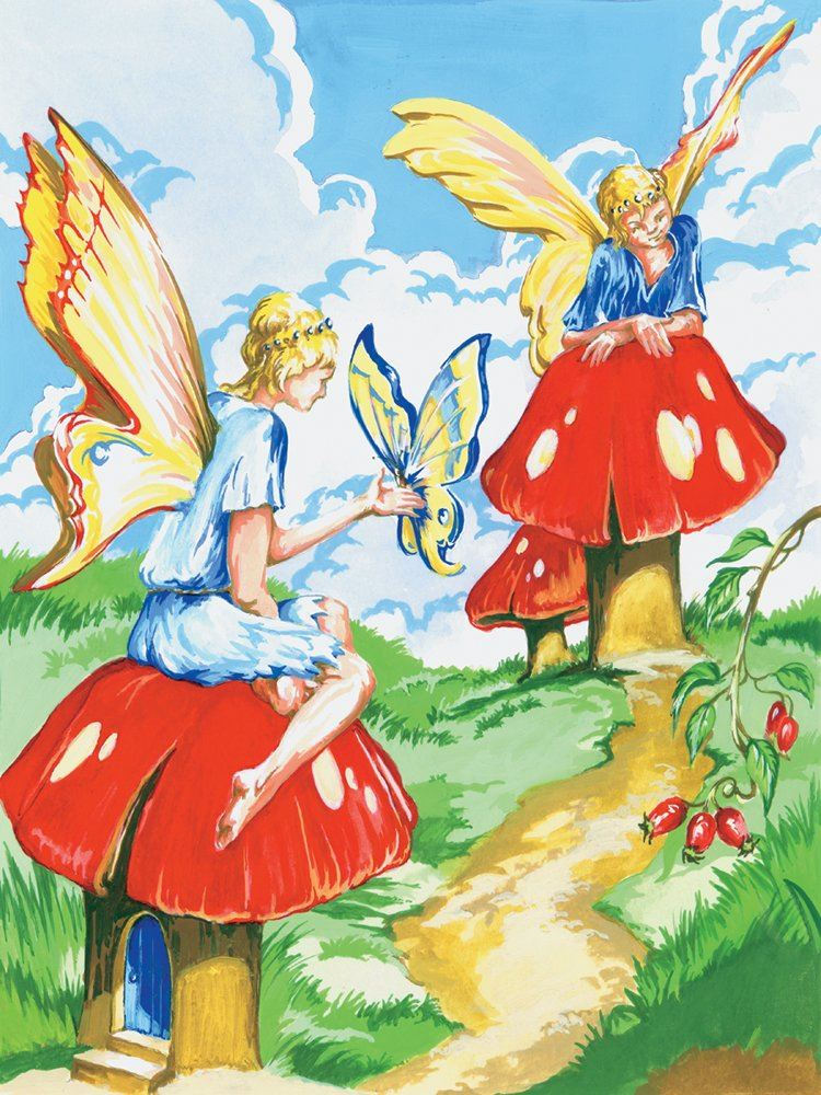 PJS20 Flower Fairies Painting by Numbers Kit