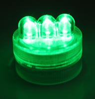 Green LED Triple Bulb Twist Light