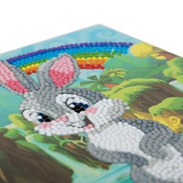 Rabbit Wonderland- Crystal Art Card 5D Diamond Painting Kit