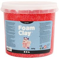 780870 Red Glitter Foam Clay 560g
