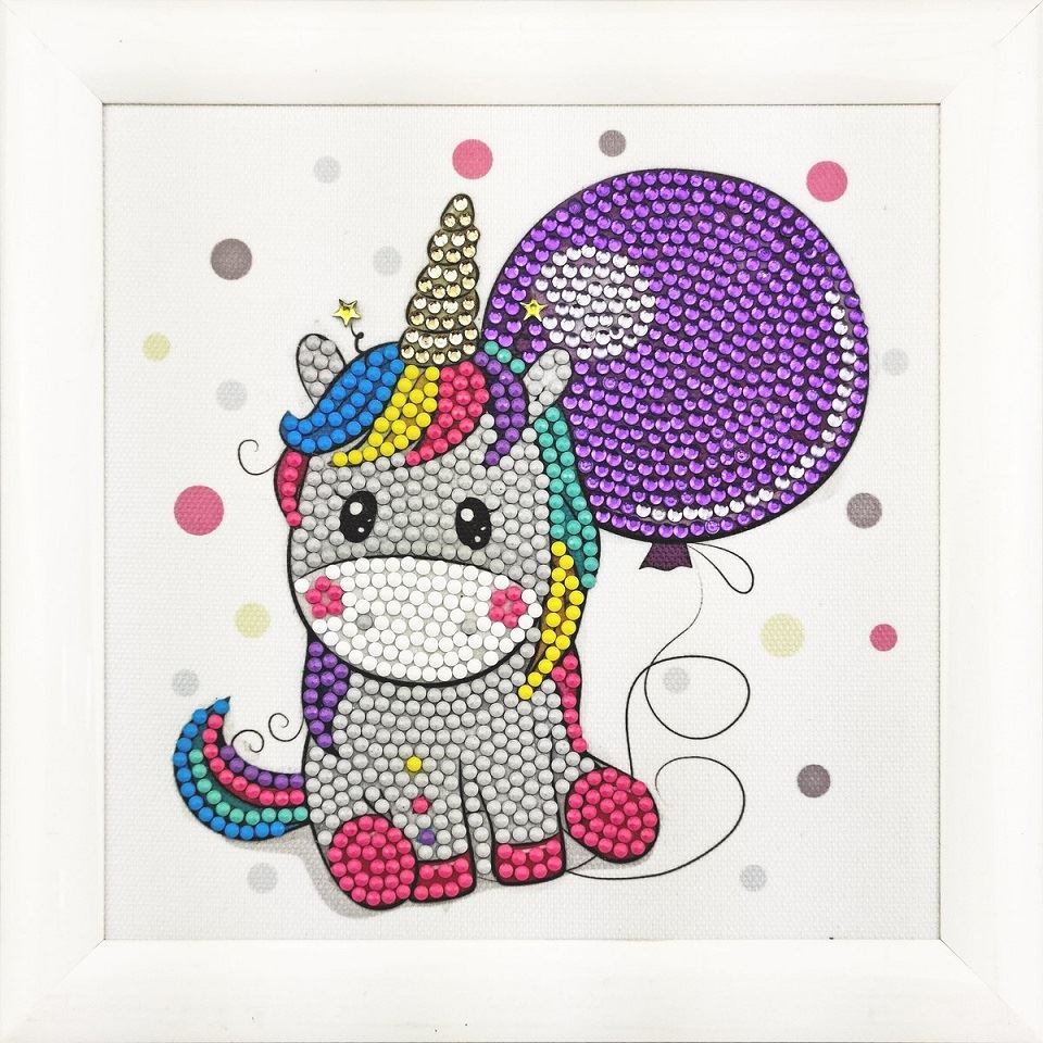 CAFBL-1 Unicorn Balloon Frameable Crystal Art Kit