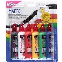 Dimensional Fabric Paints- Matte (6pk) pack