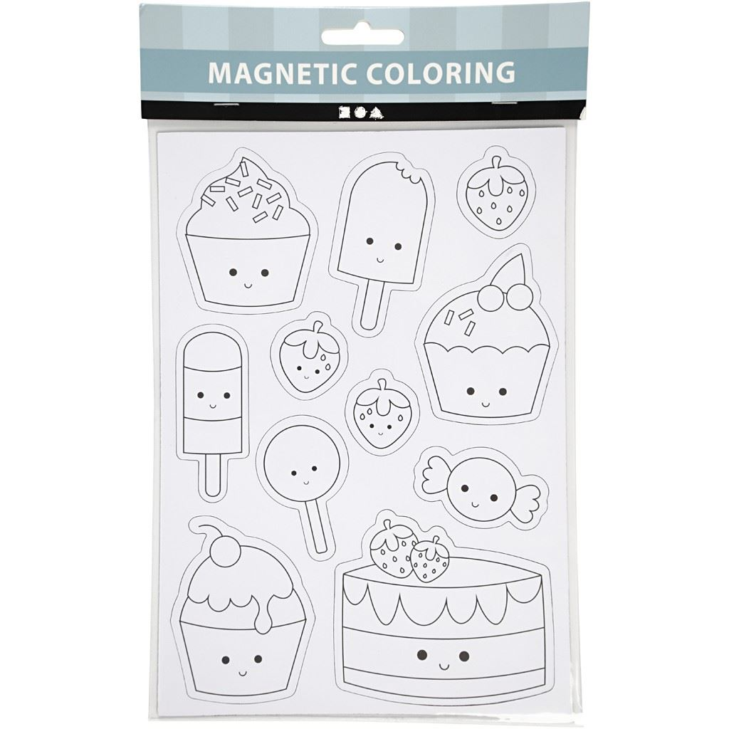 Ice Cream Magnets- Magnetic Colouring Sheet