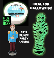 Prince Party Animal with Glow in the Dark Foam Clay