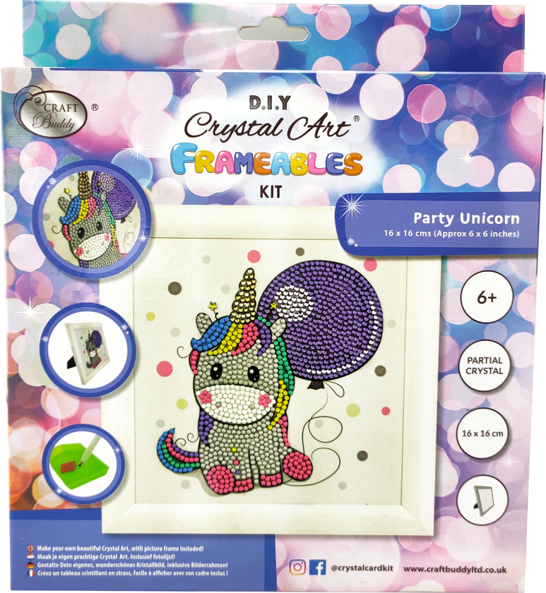 CAFBL-1 Unicorn Balloon Frameable Crystal Art Kit pack