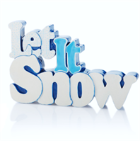 Let It Snow Plaque 5286