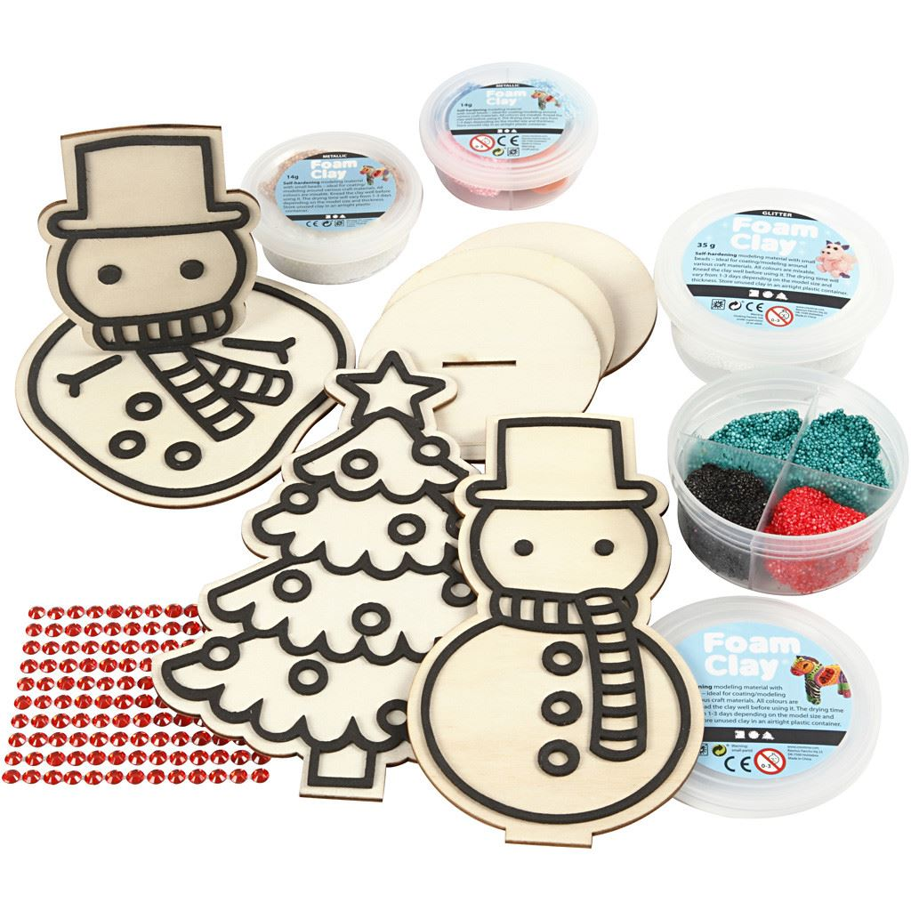 CH97071 Snowman Friends Modelling Kit contents