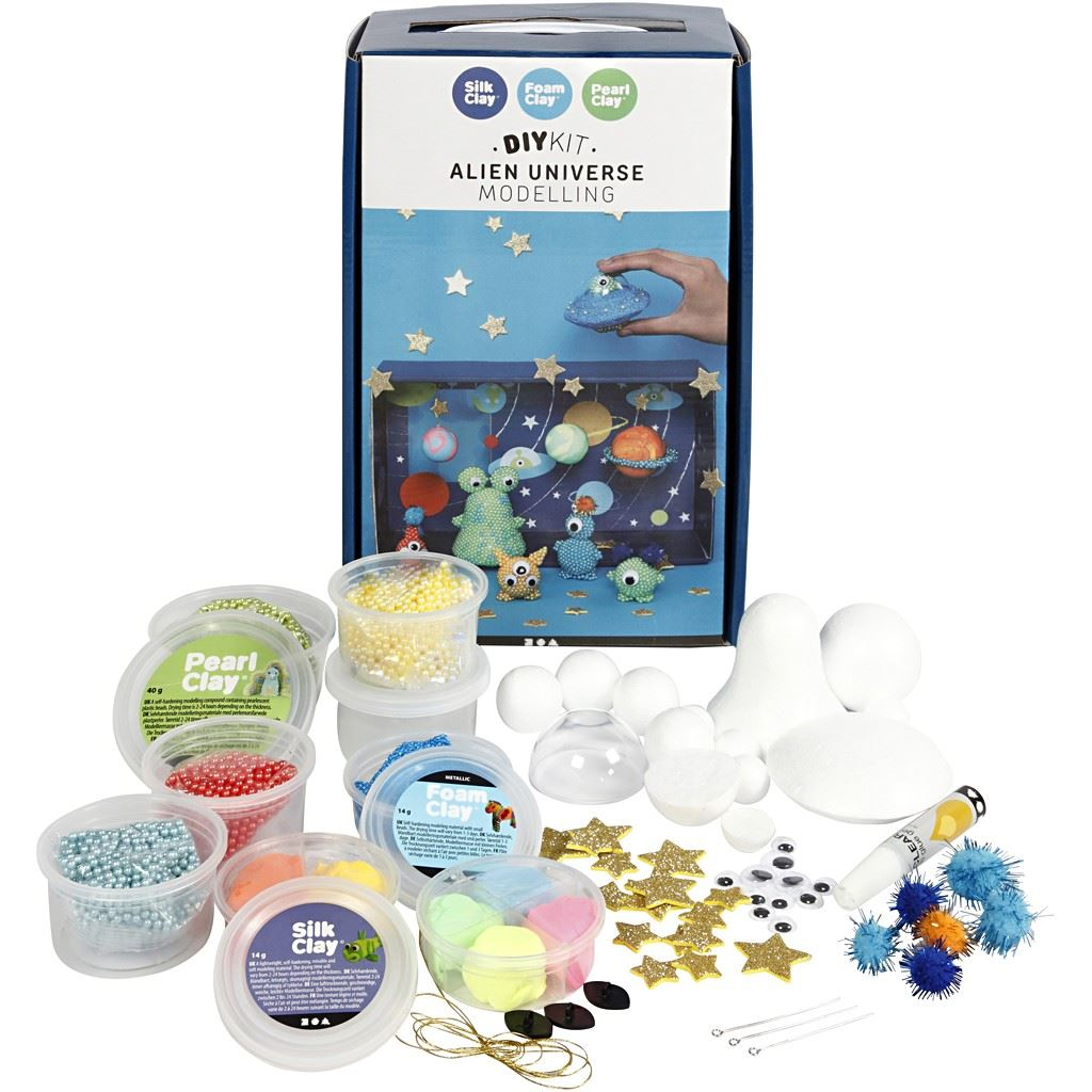 Aliens Universe Silk Clay Pearl Clay Foam Clay Kit