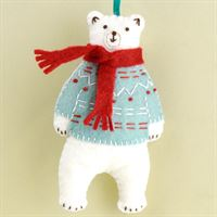 Polar Bear Mini Felt Craft Kit