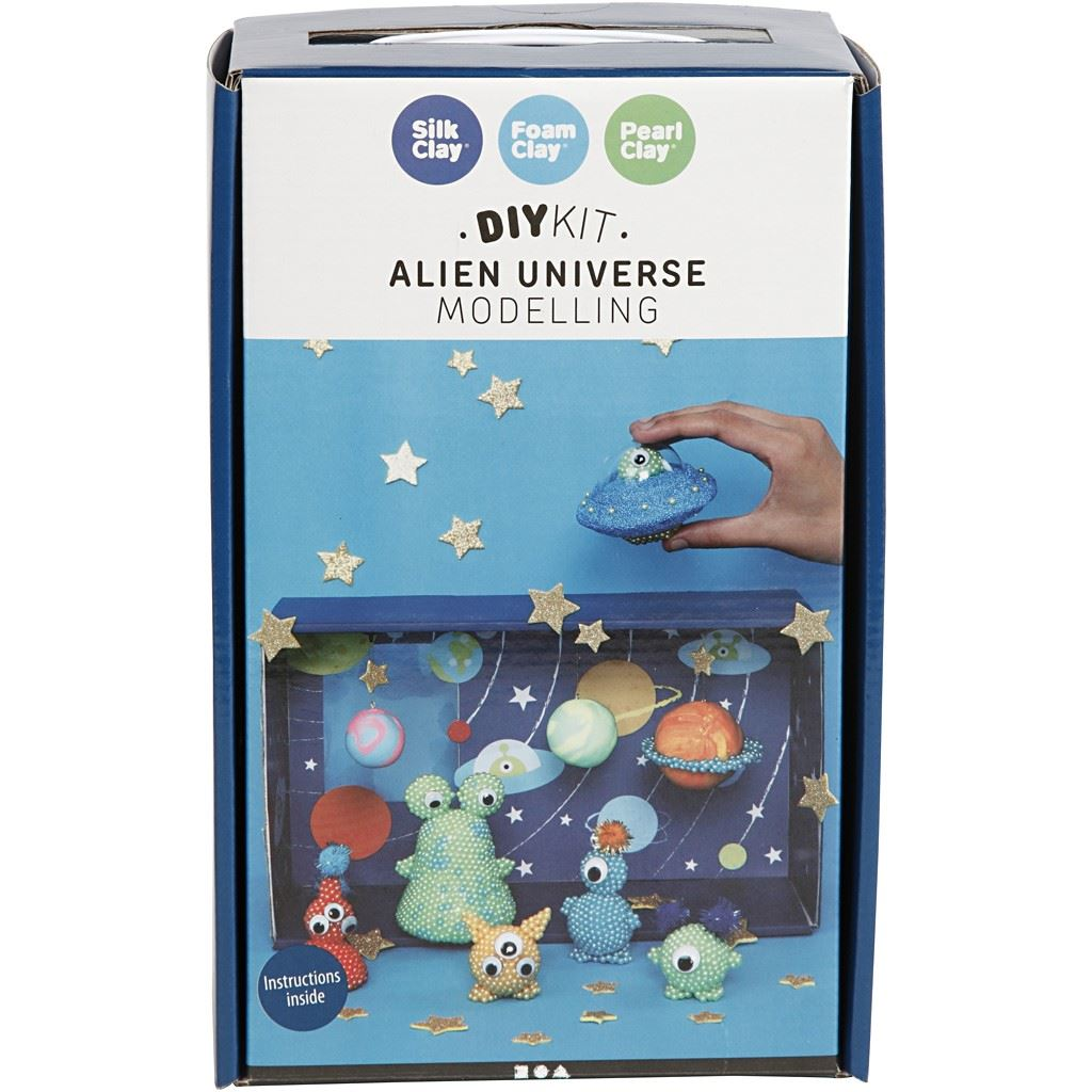 Aliens Universe Silk Clay Pearl Clay Foam Clay Kit box