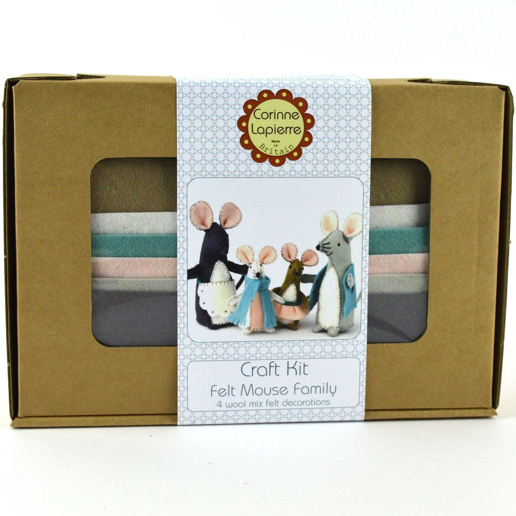 Mouse Family Craft Kit boxed
