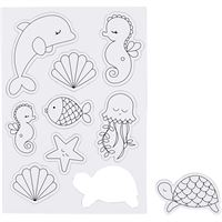 Ocean Magnets- Magnetic Colouring Sheet