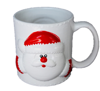 4096 Santa Animug- white