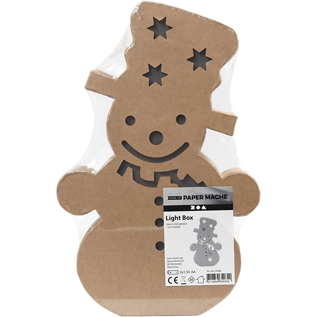 CH54906 Snowman Light Up Figure in pack