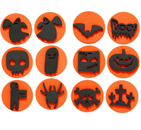 Foam Stamps Halloween 7.5cm (12 Assorted)
