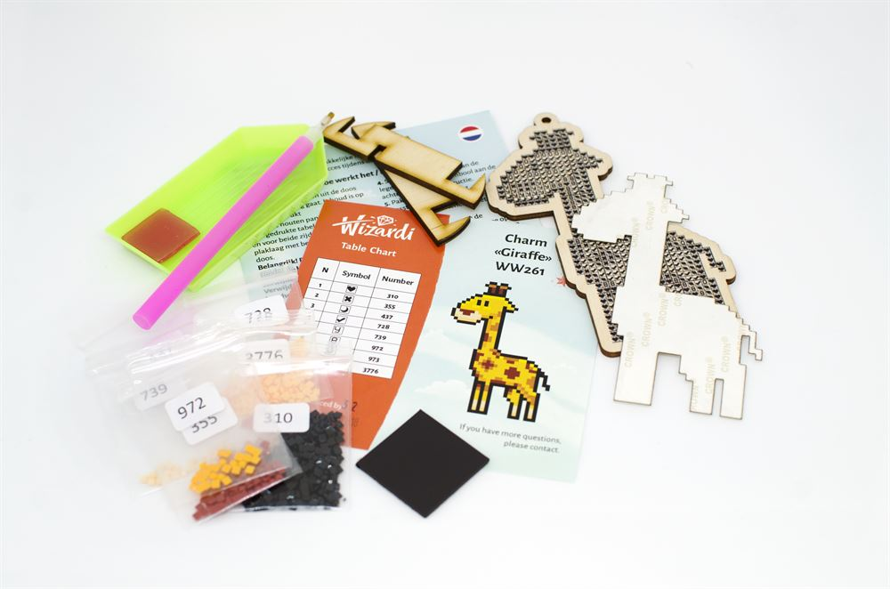Wizardi Charm kit contents