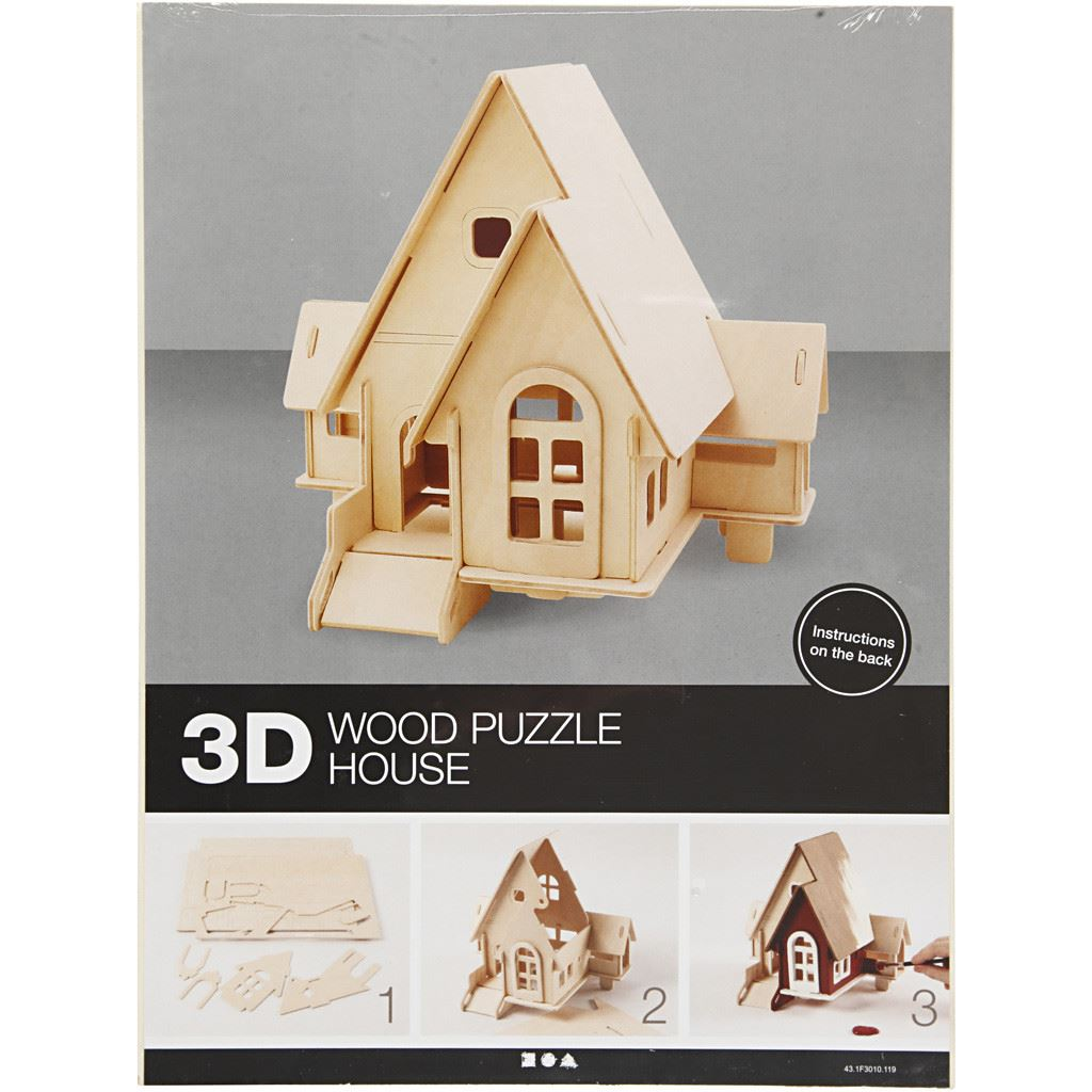 CH57874 Wooden House with Ramp Construction Kit package