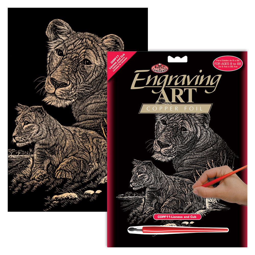 COPF11 Lioness and Cub Engraving Kit