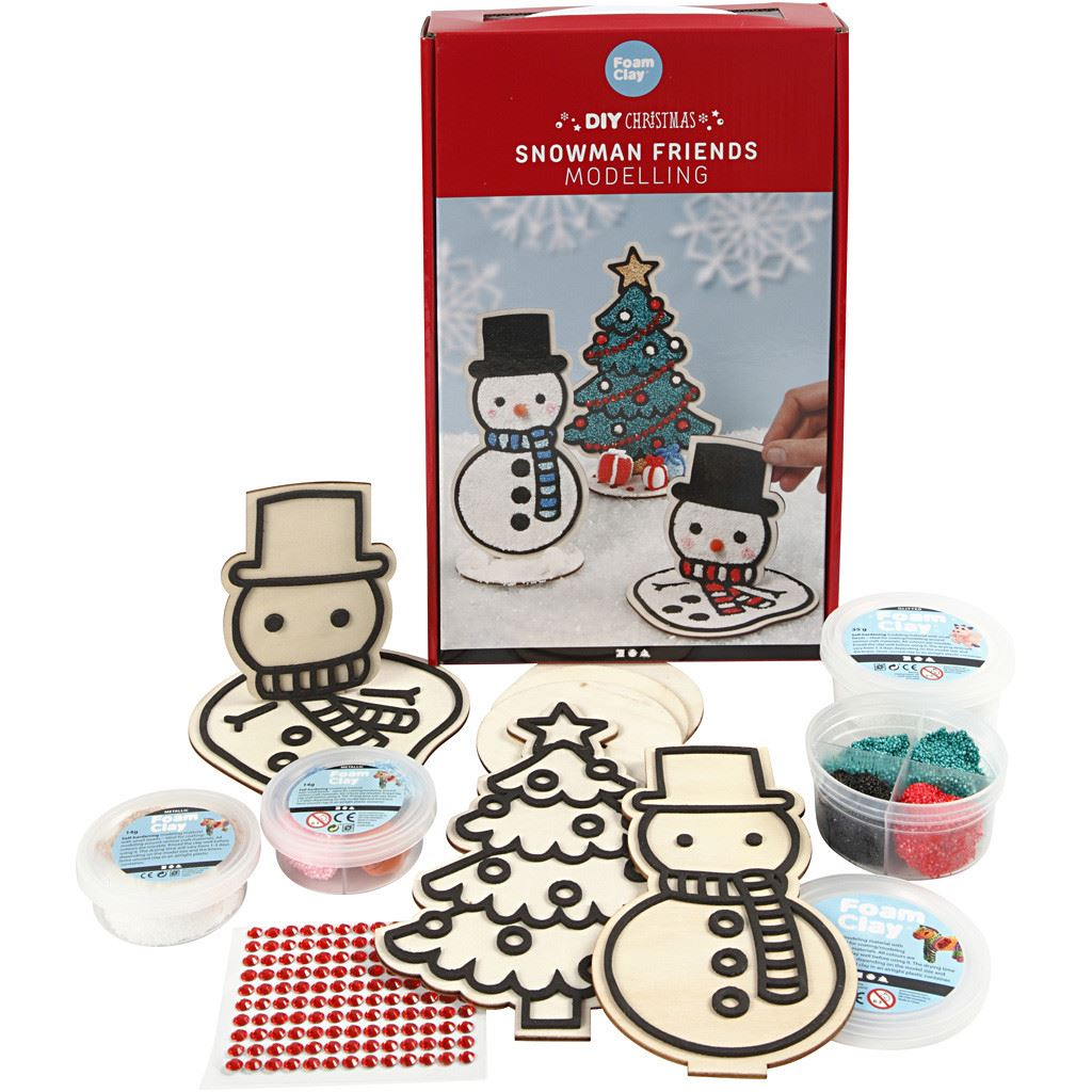 CH97071 Snowman Friends Foam Clay DIY Modelling Kit