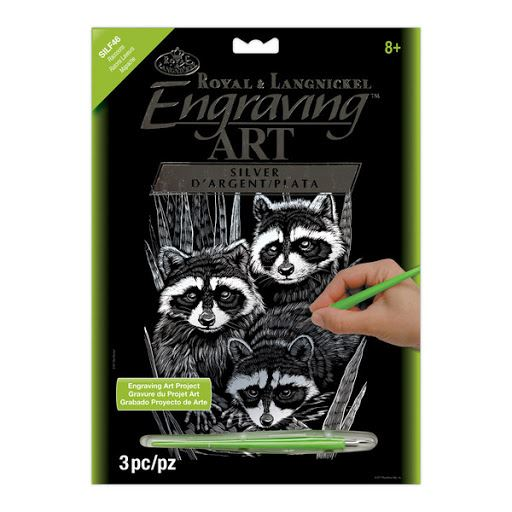 SILF46 Raccoons Silver Engraving Art Kit outer