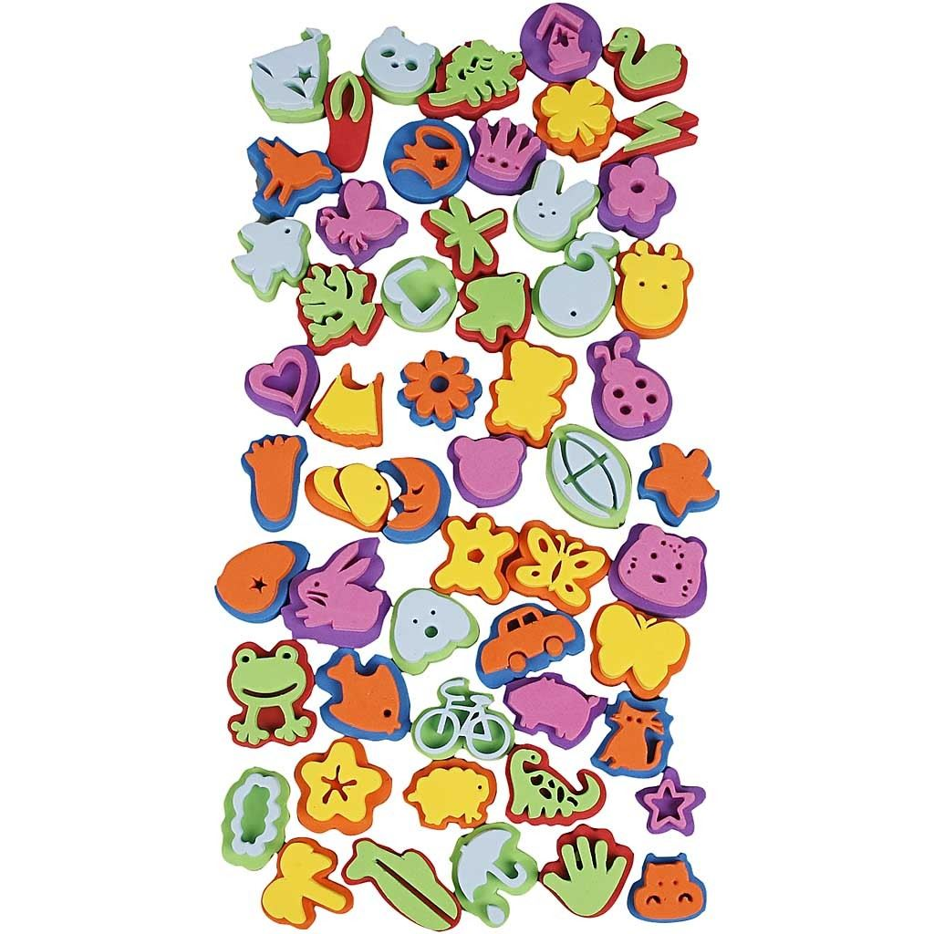 CH28559 Foam Stamps (55 Assorted) 3-5cm