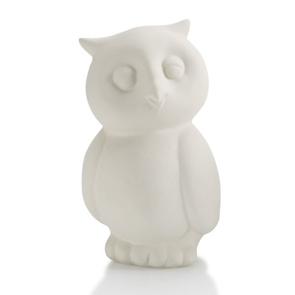 7286 Owl Party Animal plain bisque