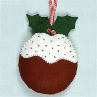 MKPUD1F Christmas Pudding Felt Craft Kit Needlework Sewing Craft Kit