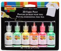 Scribbles 26514 Dimensional Neon Fabric Paint, 6-Pack by Scribbles