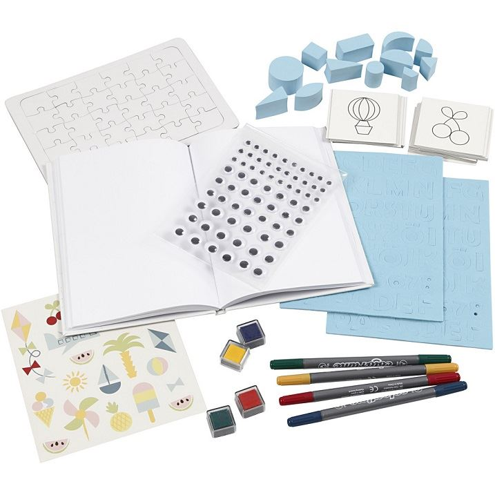 CH97067 DIY Paper  Kit- Summer Fun Paint and Play contents