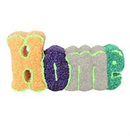 5268 Home Word Plaque - Foam Clay