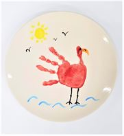 Coupa Salad Plate with Bird Design