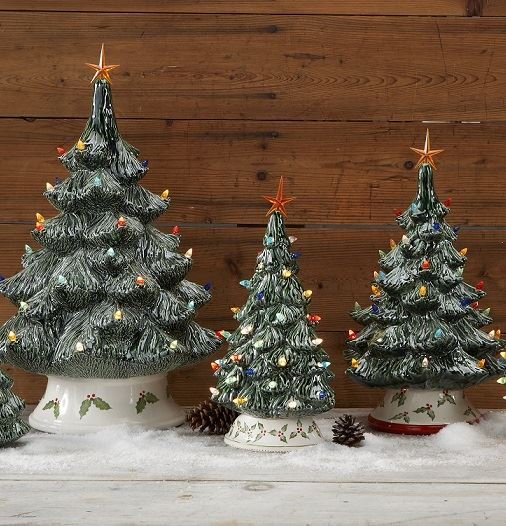 Christmas Trees with Twist Lights