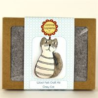 Grey Cat- Mini Felt Craft Kit Box