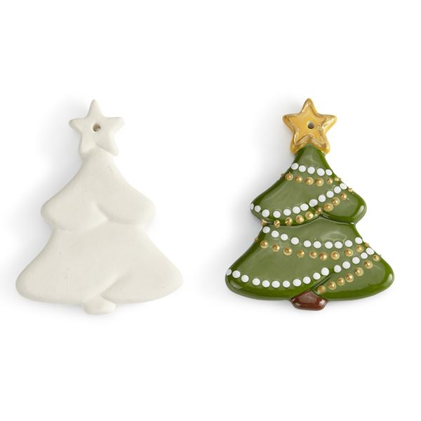 Christmas Tree Ornament Flat 8 9cm H