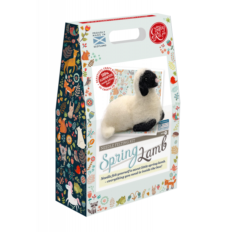 Spring Lamb Needle Felting Kit box