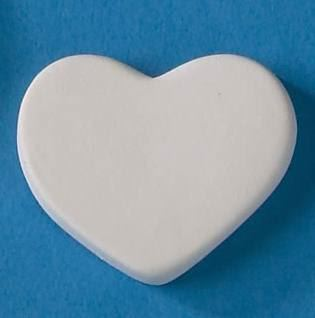 "BISQUIES SMALL HEART 1.75""w x 1.5""h"
