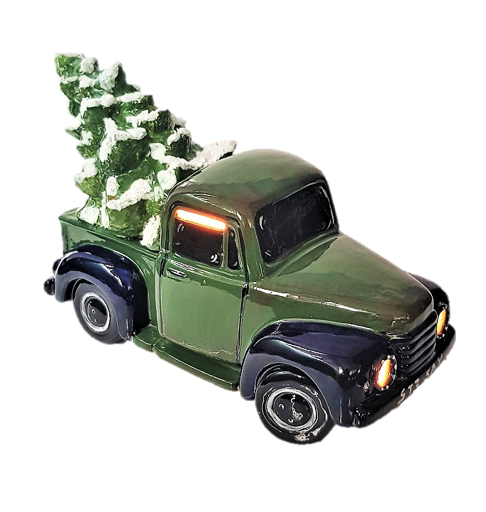 5312 Vintage Truck with Tree (Lit)