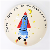 Coupe Salad Plate with Rocket Design