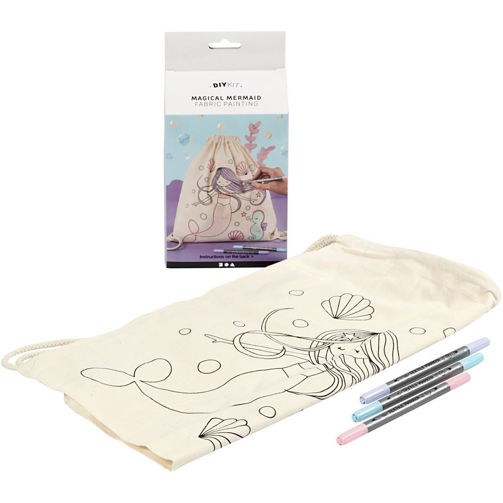 Mermaid Textile Decoration Kit Boxed