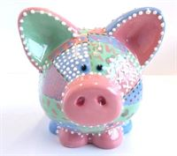 7020 piggy bank from front