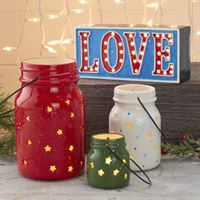 Love Light Up Word 5275 with Jar Star Lanterns