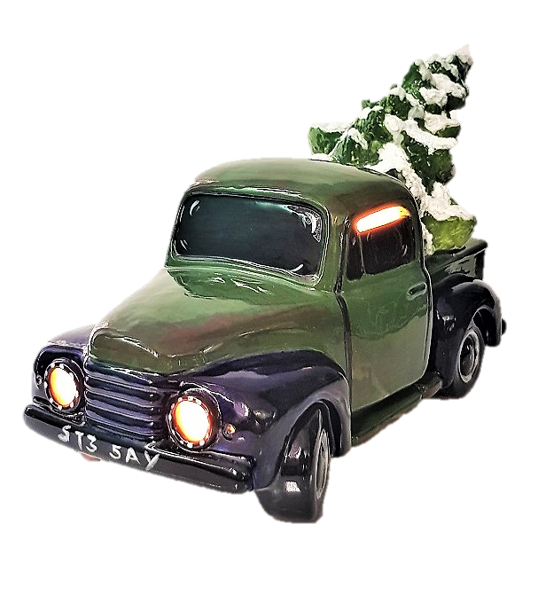 Vintage Truck with Christmas Tree with light fitting
