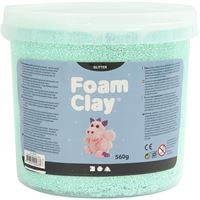 780866 Light Green Glitter Foam Clay 560g