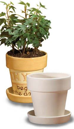 Small Flower Pot Amp Saucer Bisque Ceramic Shapes For