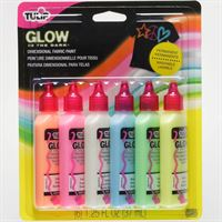 Dimensional Fabric Paint - Glow in the Dark (6 pack) 29025