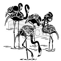 TCW784 Flamingos Acrylic Craft Stencil
