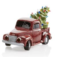 5312 Vintage Truck with Christmas Tree with Pottery Glaze