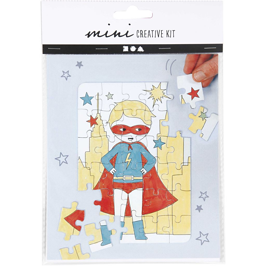 CH977212 Mini Creative Kit, jigsaw puzzle - superhero (2)